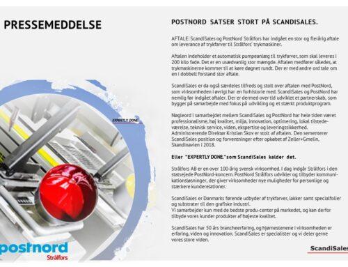 Pressemeddelelse – PostNord og ScandiSales